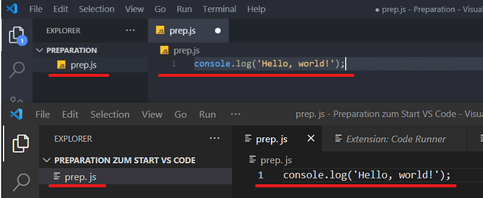 VS Code see difference